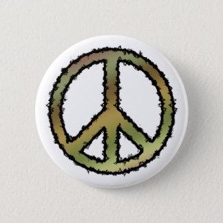 Camo Peace Sign 6 Cm Round Badge