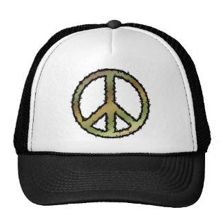 Camo Peace Sign Trucker Hat