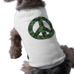 Camo Peace Sleeveless Dog Shirt