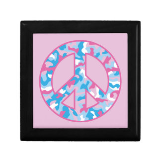 Camo Peace Small Square Gift Box