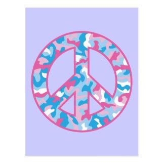 Camo Peace Symbol Postcard