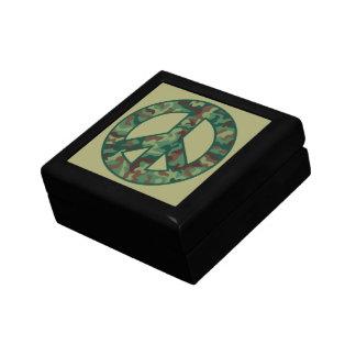 Camo Peace Symbol Small Square Gift Box