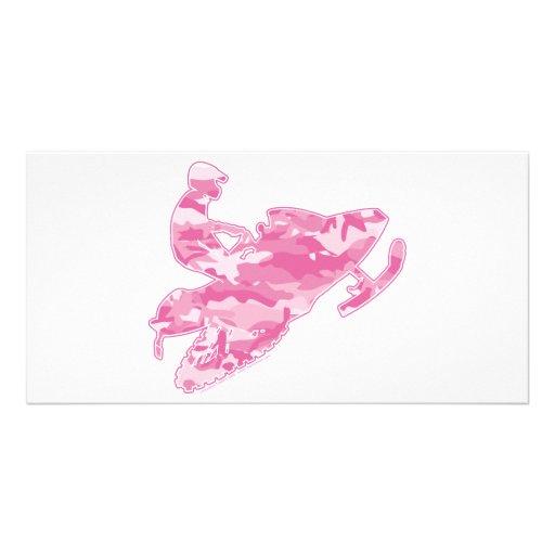 Camo Pink Sled on Black copy Photo Card