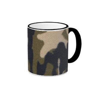 Camo Print Jungle Green/Black for Hunters Ringer Coffee Mug
