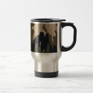 Camo Print Jungle Green/Black for Hunters Stainless Steel Travel Mug