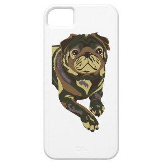 Camo Pug iPhone 5 Cover