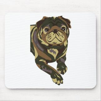 Camo Pug Mouse Pad