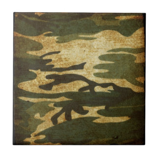 Camo Small Square Tile