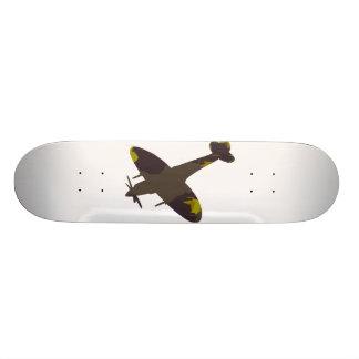 camo, spitfire white template custom skate board