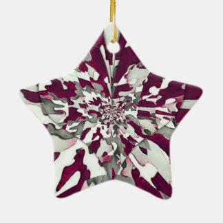 Camo Splash Ceramic Star Decoration