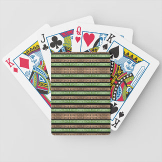 Camo Stripes Print Bicycle Playing Cards