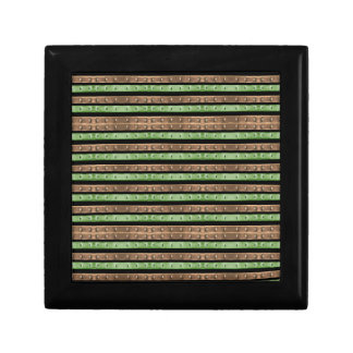 Camo Stripes Print Gift Box