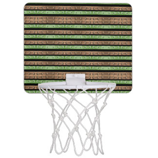 Camo Stripes Print Mini Basketball Hoop