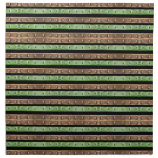 Camo Stripes Print Napkin