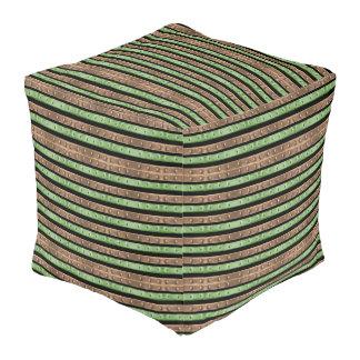 Camo Stripes Print Pouf