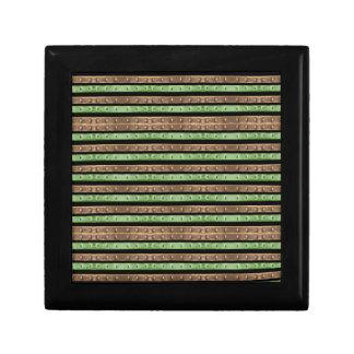 Camo Stripes Print Small Square Gift Box