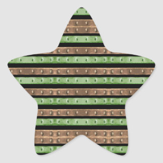 Camo Stripes Print Star Sticker