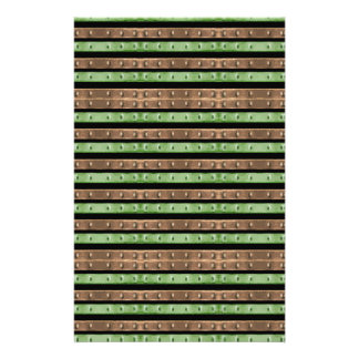 Camo Stripes Print Stationery