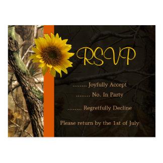 Camo & Sunflowers Postcard