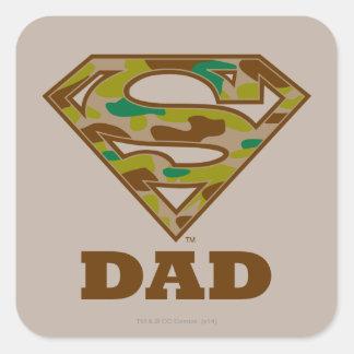 Camo Super Dad Square Sticker