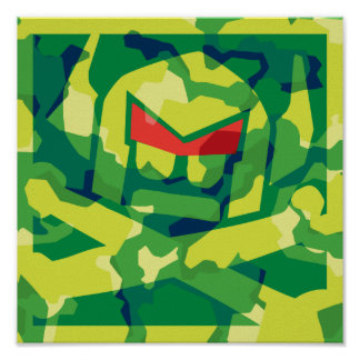 Camo Swede in green Poster