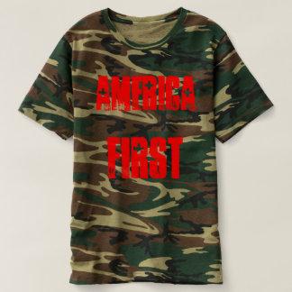 Camo T-shirt America First 45