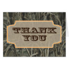 Camo Thank you note cards