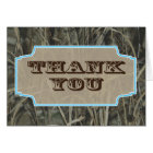 Camo Thank you note cards Blue