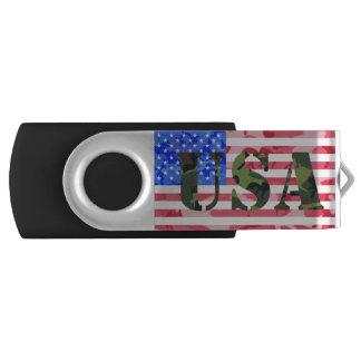 Camo USA and Flag Swivel USB 3.0 Flash Drive