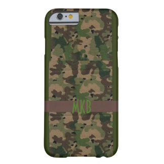 Camo with Monogram Barely There iPhone 6 Case