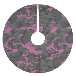 Camo with Pink Brushed Polyester Tree Skirt