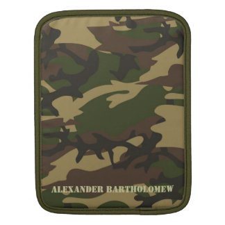 Camo with Stencil Personalized iPad Sleeve