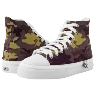 Camoflage Print High Top Shoes Printed Shoes
