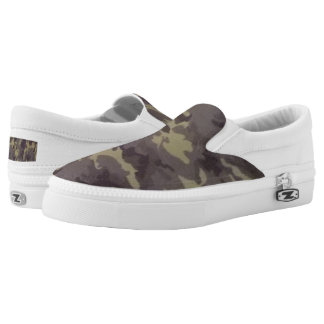 Camoflage Print Slip-on Shoes
