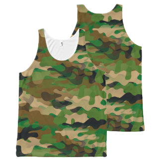 Camoflage-Style Unisex Tank Top