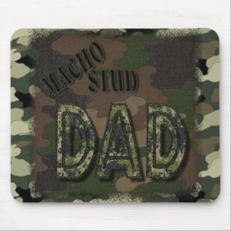 CAMOFLAUGE MACHO STUD DAD! MANLY GIFT MOUSE MATS