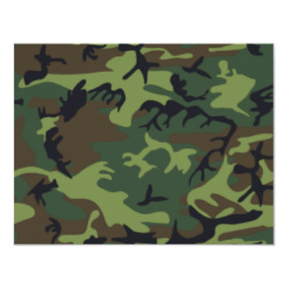 Camouflage 11 Cm X 14 Cm Invitation Card