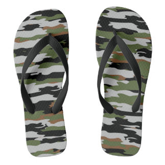 Camouflage Adult, Wide Straps Thongs