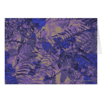 Camouflage against blue flower card