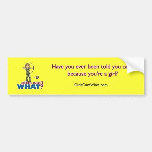 Camouflage Archery Girl - Blonde Bumper Sticker