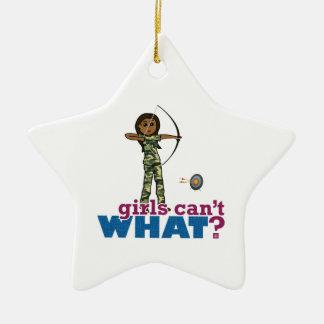 Camouflage Archery Girl - Dark Christmas Ornaments