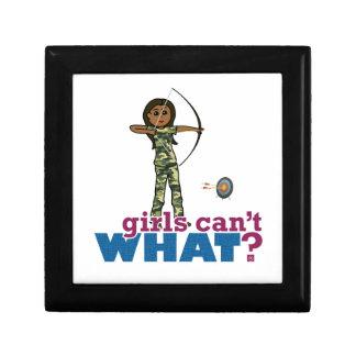 Camouflage Archery Girl - Dark Trinket Boxes
