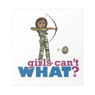 Camouflage Archery Girl - Dark Note Pads