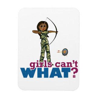 Camouflage Archery Girl - Dark Rectangular Magnets