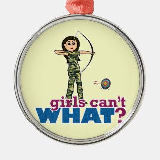 Camouflage Archery Girl - Light Christmas Tree Ornament