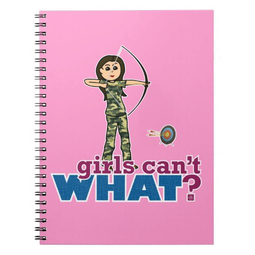 Camouflage Archery Girl - Light Note Book