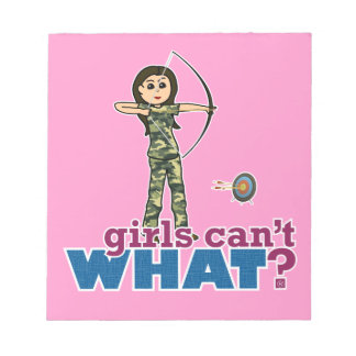 Camouflage Archery Girl - Light Scratch Pad