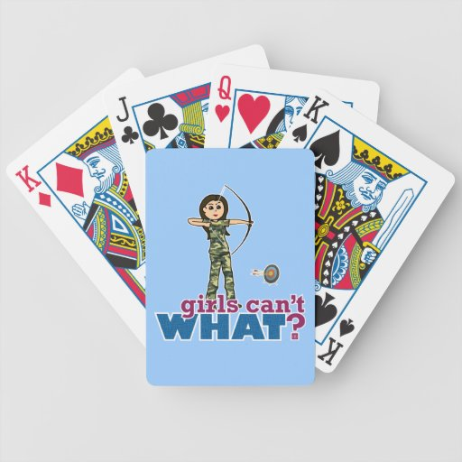Camouflage Archery Girl - Light Deck Of Cards