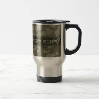Camouflage Army Mom Heart of Love Military Stainless Steel Travel Mug