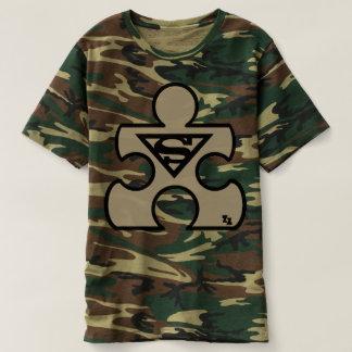 Camouflage Autistic Puzzle Piece Tshirt Camo